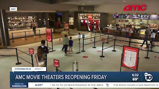 7 San Diego County AMC theaters reopening to the public