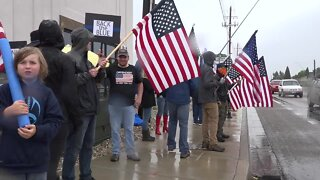 Back the blue flag-waving event gives support to law enforcement