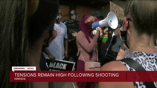 Protesters rally after officer-involved shooting of Jacob Blake