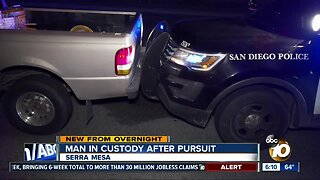 Reported stolen truck leads San Diego police on pursuit