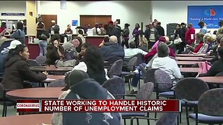 State working to handle historic number of unemployment claims