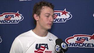 Luke Hughes talks draft moment, Jack's excitement, Michigan's historic night - with WXYZ's Brad Galli