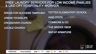Tampa nonprofit offering free laundry services to low-income families, laid off hospitality workers