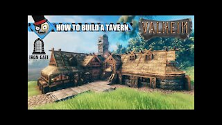 Valheim - How to Build a Viking House - Tavern Base Building