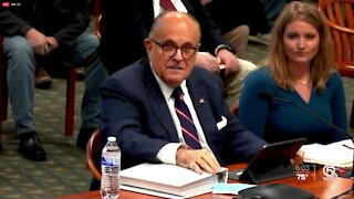 Trump says Rudy Giuliani has COVID-19, reports indicate he's been hospitalized