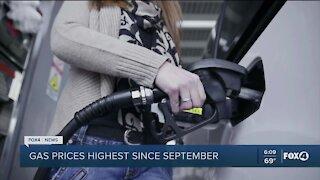 Gas prices climbing