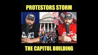 Protestors Storm The Capitol Building