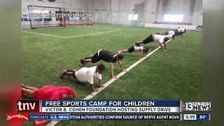 Free sports camp for Las Vegas children
