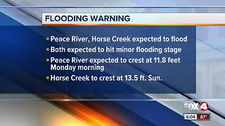 Flood warning issued for DeSoto County though Monday