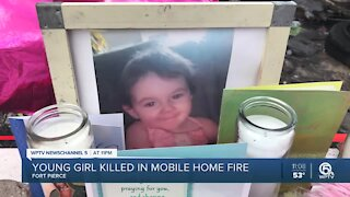 Young girl killed in Fort Pierce mobile home fire