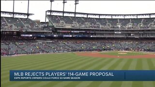 MLB rejects players' 114-game proposal