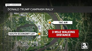 Trump attendees left stranded after rally