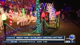 Greeley family's light display on TV tonight