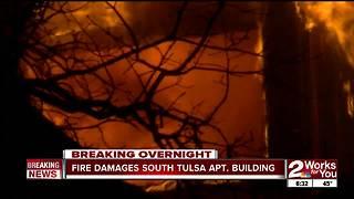 Fire rips through South Tulsa apartment complex