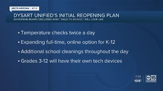 Dysart Unified School District announces reopening plans