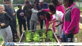 Students learn outdoors in Farm to School learning program