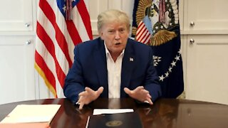 President Trump Reassures Americans from Walter Reed National Military Medical Center