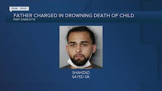 Man arrested after his child drowns