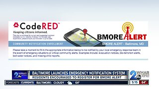 Baltimore City launches emergency notification system