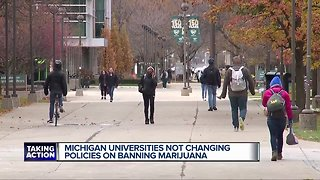 Colleges not changing marijuana policies