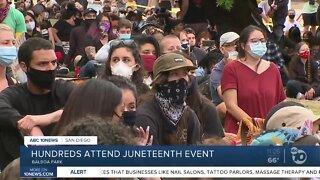 Hundreds attend Juneteenth event