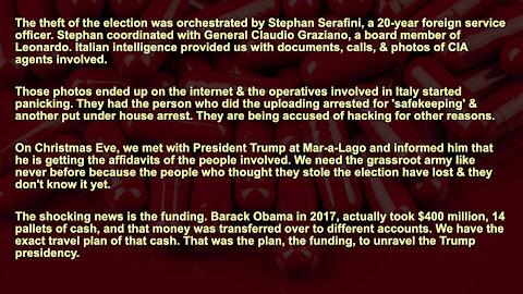 Stephan Serafini, General Claudio Graziano, Leonardo, Barack Obama. Full Audio