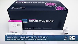 Who will administer rapid COVID-19 tests?