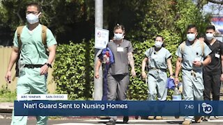 California National Guard sent troops to San Diego nursing homes