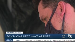 San Diegans coping with heat wave during pandemic