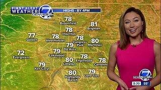 Warmer across Colorado Saturday