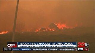 Tenaja fire grows to over 2,000 acres