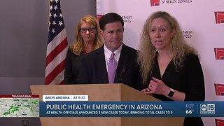 Arizona governor declares emergency as virus cases hit 9