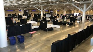 Huntington Convention Center reopens for the first time in a year with Today's Bride Show
