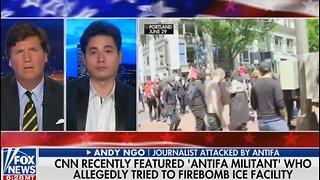 Tucker Carlson rips CNN for glorifying Antifa terrorists