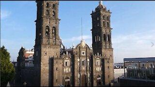 Rooftop View from Hotel Santiago, Puebla, Mexico