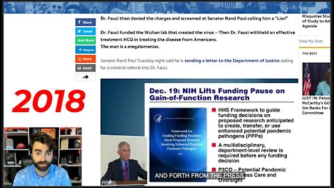 2018 Video Shows Fauci EXPLAINING Continuing To Fund Gain-Of-Function Bioweapon Research!