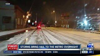Storms bring hail to Denver metro area
