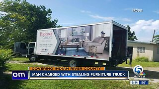 Man arrested for stealing furniture truck in Vero Beach
