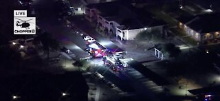 1 displaced after balcony fire at Las Vegas apartment