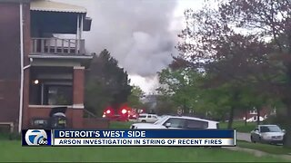 Police believe arsonist set several fires to homes on Detroit's west side