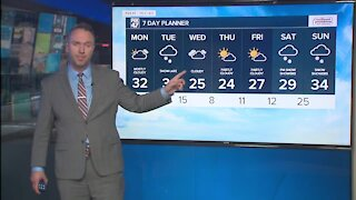 Tonight's forecast: Mostly cloudy, becoming partly cloudy overnight