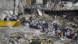 Search Continues For Condo Collapse Survivors In Surfside, Florida