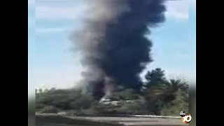 Video shows Vista house fire