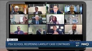 FEA school reopening lawsuit case