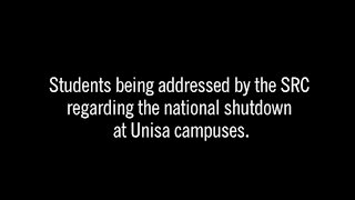 SOUTH AFRICA - Pretoria - Shutdown at Unisa campuses (Video) (2Zq)