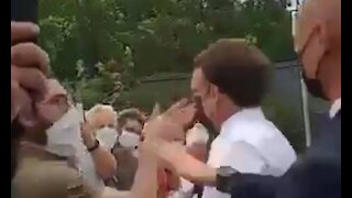Macron is assaulted by citizen