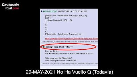 29-MAY-2021 No Ha Vuelto Q (Todavía)