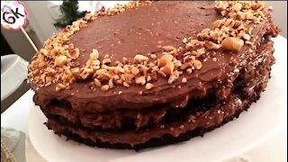 CHOCOLATE FERRERO ROCHER CAKE