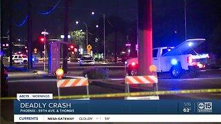 Phoenix police are investigating a fatal crash involving a pedestrian
