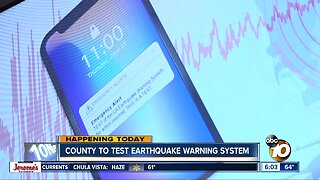 Earthquake warning system being tested throughout San Diego County